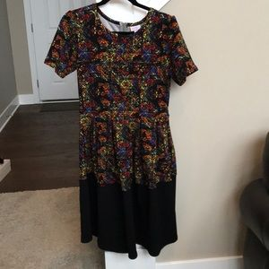 LulaRoe Amelia color block dress